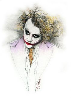 Art Print of The Joker done by Heath Ledger in The Dark Knight