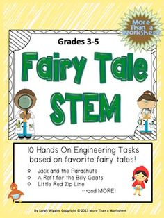 This is a collection of 10 building and engineering projects based on a fairy tale themed problems. Students will build a parachute to help Jack escape the giant and construct a toothpick house for the Three Little Pigs. Eight other exciting and creative tasks!