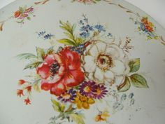 vintage De Mets Fruitcake Tin floral pattern by lookonmytreasures on Etsy