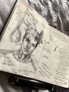 # Skizzen Bleistift - Famous Last Words Sad Drawings, Art Drawings Sketches, Pencil Sketch Drawing, Pencil Drawings, Rap Wallpaper, Iphone Wallpaper, Arte Do Hip Hop, Xxxtentacion Quotes, X Picture