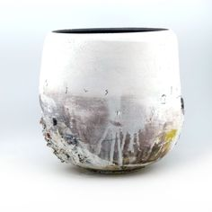 'Duepe' large bowl form, 28cm diameter - Sam Hall, Large Bowl, Vase, Ceramics, Abstract, Decor, Ceramica, Summary, Pottery