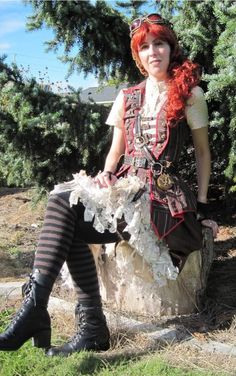 Airship Pirate Steampunk - Dragonfly Designs by Alisa - whole costume start to finish