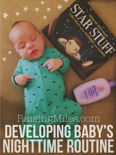 How to develop a nighttime routine with baby and help get your infant to sleep. Great for new parents!