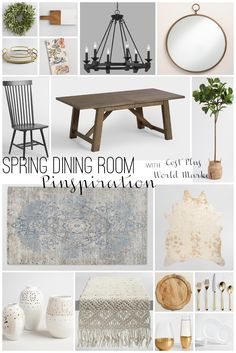 Modern Farmhouse Spring Dining Room Makeover Inspiration With Cost Plus World Market Take 30