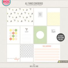 All Things Considered Journaling Cards
