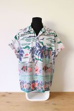 HAWAIIAN SHIRT mens floral tee HIPSTER trendy holiday BRIGHT VINTAGE Festive