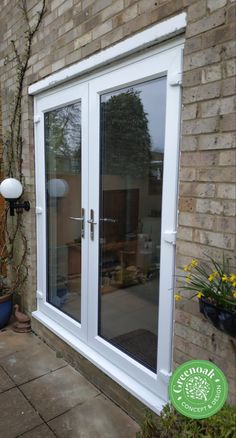 White Liniar french doors. Eastwood Essex Folding Doors, Stables, French Doors, Accordion Doors, Horse Stables, Pocket Doors, Run In Shed, Horse Barns