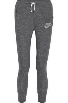 Nike Gym Vintage organic cotton-blend jersey track pants | NET-A-PORTER