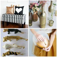 Ideas decorar babu shower blanco, negro y dorado