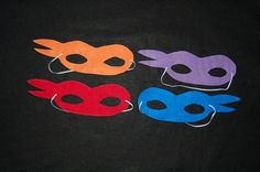 These felt mask are perfect for your Ninja / Ninja Turtle Party! This masks are handmade cut and machine sew. Each mask has 12 of elastic strap you