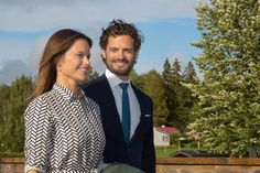 Princess Sofia of Sweden and Prince Carl Philip of Sweden (Duke and Duchess of Värmland) on the day of the 2 day visit to Varmland on August Prince Carl Philip, Princess Sofia Of Sweden, Princess Of Wales, Swedish Royalty, Crown Princess Victoria, All Family, Princess Birthday, First Baby, Romantic Couples