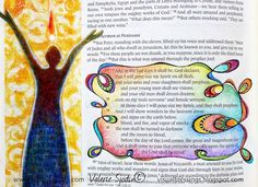 visual blessings: Like a Mighty Rushing Wind - Bible Art Journaling