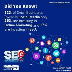 Did You Know? 32% of Small Businesses Invest in Social Media Only. 25% are Marketing and 17% are Investing in SEO. #digitalmarketing#marketing#socialmediamarketing#socialmedia#business#onlinemarketing#marketingdigital#contentmarketing#marketingtips#marketingstrategy#smallbusiness#instagram#entrepreneurship#graphicdesign