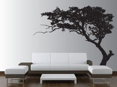 Large Wall Tree Decal Forest Decor Vinyl Sticker Highly Detailed Removable Nursery 1131 (8 feet tall). $79.99, via Etsy.