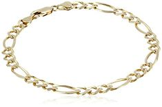 """10k Yellow Gold Figaro Bracelet, 8"""" * Read more reviews of the product by visiting the link on the image."""