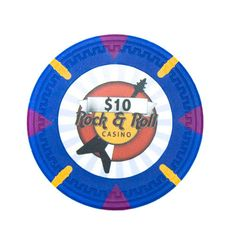 Lot of 25 $10 Rock & Roll 13.5 Gram Poker Chips Low / Free Shipping Options
