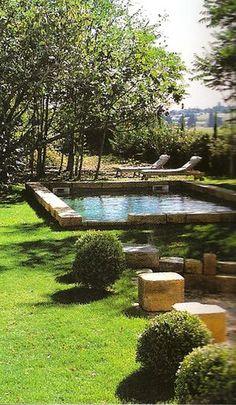 43 Adorable Small Pool Backyard Designs Ideas To Inspire You Backyard Pool Designs, Small Backyard Pools, Small Pools, Swimming Pools Backyard, Swimming Pool Designs, Backyard Patio, Backyard Landscaping, Natural Landscaping, Nice Backyard
