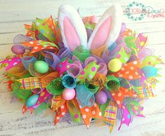 Easter Table Centerpiece by aDOORableDecoWreaths on Etsy