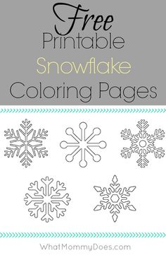 Look no further for coloring sheet activities on a snowy winter day - here are 5 full page snowflake coloring pages your kids will beg you to print out.