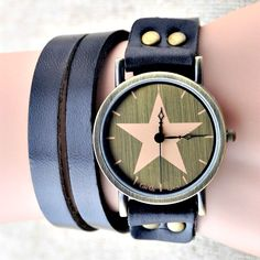 Handmade Vintage Genuine Real Leather Watches Band Lady