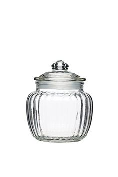 Kitchen Craft Home Made Small Glass Storage Jar, 600 ml (1 Pint) - Clear by KitchenCraft