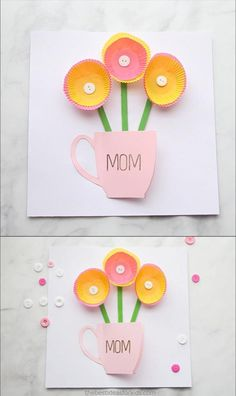 53 Ideas Easy Art Projects For Kids Preschool Toddlers Spring Crafts - Easy Crafts for All Kids Crafts, Easy Mother's Day Crafts, Mothers Day Crafts For Kids, Easy Art Projects, Fun Diy Crafts, Toddler Crafts, Preschool Crafts, Projects For Kids, Holiday Crafts