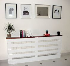 diy radiator cover - this would work as a sofa table in my ...: