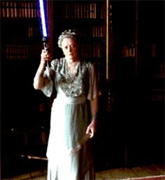 downton abbey memes | Maggie Smith star wars Downton Abbey violet crawley downton wars ...