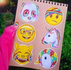 I love how her nails match the theme . Emoji Drawings, Tumblr Drawings, Kawaii Drawings, Cute Drawings, Social Media Art, Emoticons, Smileys, Cute Emoji, Emoji Wallpaper