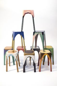 GroBartig Matter Of Motion Stools By Maor Aharon