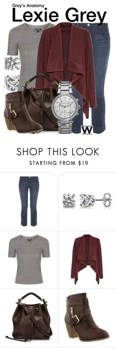 """Grey's Anatomy"" by wearwhatyouwatch ❤ liked on Polyvore featuring Frame Denim, BERRICLE, Topshop, Chloé, MICHAEL Michael Kors, television and wearwhatyouwatch"