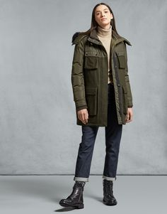 Shop the Mauson Parka Dark Pin from Belstaff Belstaff Jackets, Military Jacket, Military Soldier, Vintage Style Outfits, Online Purchase, Puffer Jackets, Parka, Fashion Photography, Quilts