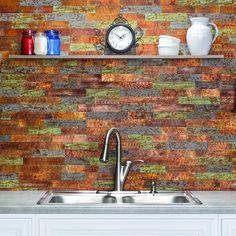 Aspect Peel and Stick Backsplash Honeycomb Champagne Matted Metal Tile Sample for Kitchen and Bathrooms Sample