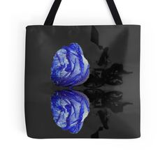 """""""Blue Rose"""" Tote Bags by JuliaFineArt 