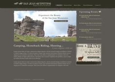 Website Design Concept created for San Juan Outfitting by Executionists