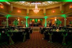 Uplighting at Safety Harbor Spa, one of our favorite venues for uplighting, the pillars are very easy to hook a light into.  http://celebrationsoftampabay.com/uplighting/