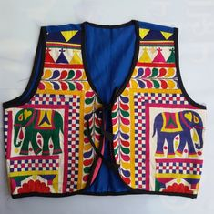 We are wholesaler and exporter of unique beautiful colorful designer attractive kutchi rabari embroidered jackets koti.These jackets are comprised of kutchi colorful embroidered fabric, mirror work, handmade embroidered flower, kutchi patchwork, printed fabric, rabariwork.For bulk Inqury ( Brinda Desai (Whatsapp No. +91 9724984661 for immediate assistance)