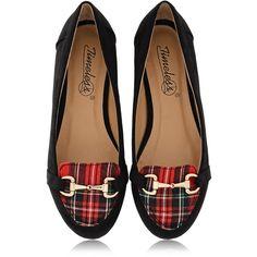 TIMELESS MARISA Tartan Slipper Ballerinas ($53) ❤ liked on Polyvore featuring shoes, flats, footwear, scarpe, leather ballet flats, ballerina flat shoes, ballet shoes, leather ballerina flats and plaid flats