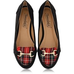 TIMELESS MARISA Tartan Slipper Ballerinas (£41) ❤ liked on Polyvore featuring shoes, flats, footwear, scarpe, plaid ballet flats, leather ballerina flats, ballet flats, ballet shoes and leather ballet flats