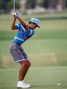 A young Tiger Woods KPJgolf.com Hole In One 24c51f4cb9f7