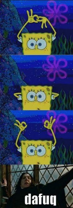 LOL spongebob and snape meme