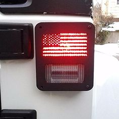 Pair 2007 - 2016 Jeep Wrangler Rear Taillight Cover Guard U.S. American Flag in eBay Motors, Parts & Accessories, Car & Truck Parts | eBay