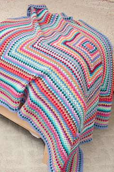 Giant Granny Square blanket.  A blog about simple living in Albuquerque, New Mexico.