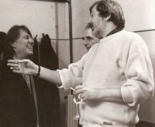 De André con Francesco Guccini nel 1983