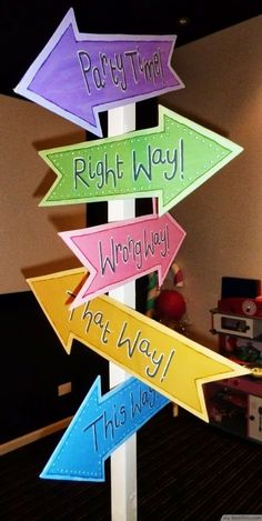 Mad Hatter Tea Party Directions Signpost ❥❥❥ http://bestpickr.com/mad-hatters-tea-party-ideas