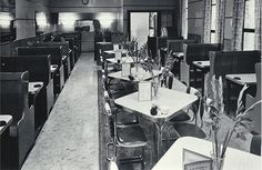 Interior view of the Regent Cafe, in the Regent Theatre Building, Cathedral Square, ca. 1958.