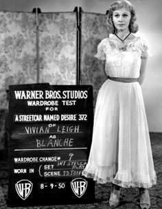 Vivien Leigh in a costume test for A Streetcar Named Desire