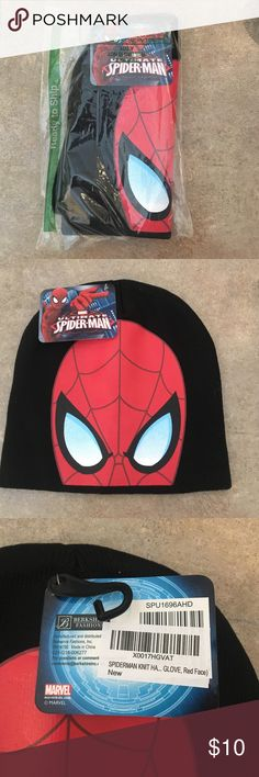 Spiderman boys winter hat Brand-new with tags, purchased two by mistake for Christmas. Marvel Accessories Hats