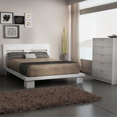 Stellar Home Furniture Cosmopolis Queen Platform Bedroom Collection