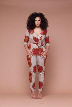 Margo African Print Jumpsuit